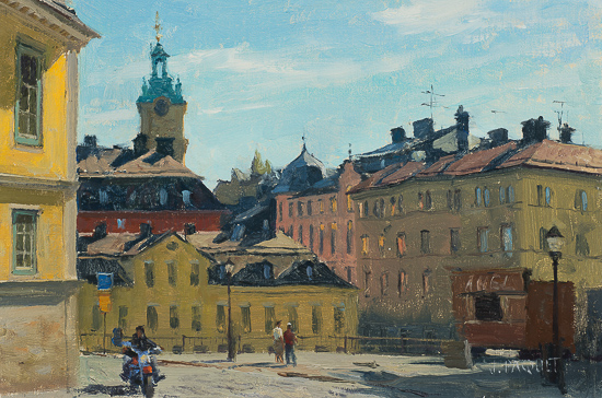 Old Town Stockholm   8x12 $3,300