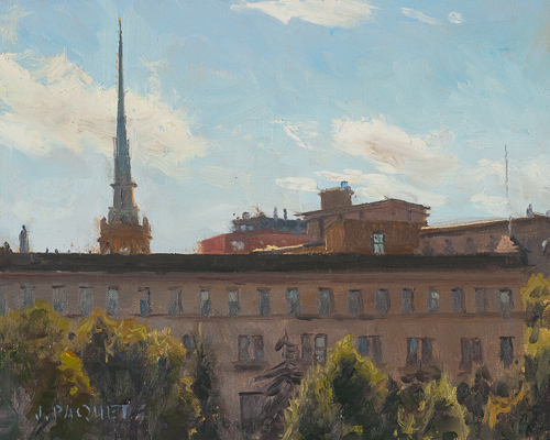 Rooftops, Minneapolis 8x10,  Oil on Mounted Linen, $2,700