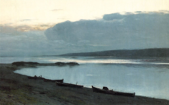 Evening on the Volga by Isaak Levitan